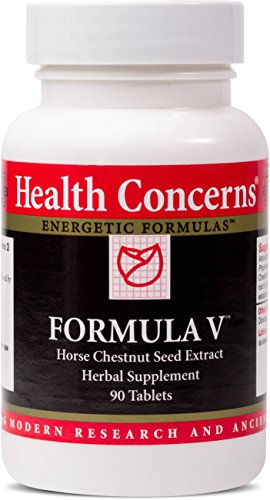Health Concerns – Formula V – Horse Chestnut Seed Extract Herbal Supplement – Supports Vascular Health – 90 Tablets