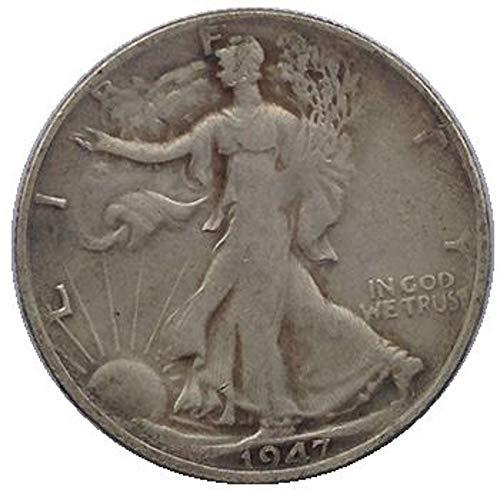 xingtingyu 1947-D USA Walking Liberty Half Dollar Coins Copy