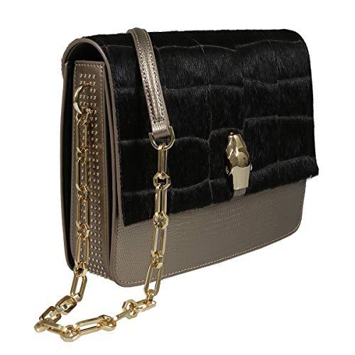 Roberto Cavalli HXLPG7 025 Brown Shoulder Bag for Womens (Inspired Coin Roberto)