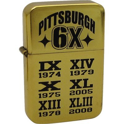 - Pittsburgh Lighter - 6X Champs with Dates (Flip Top Wick)