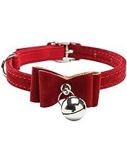 Sungpunet Cat Collar Kitten Velvet Bow Tie Safety Elastic Bowtie Bell 6 4 Colours