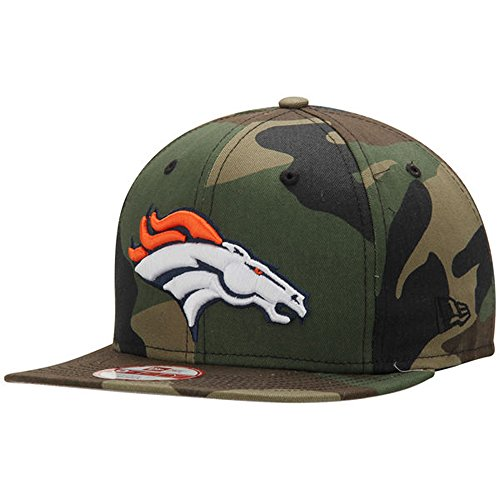 - New Era 9Fifty NFL Denver Broncos Hat State Clip Snapback Woodcamo One Size Cap
