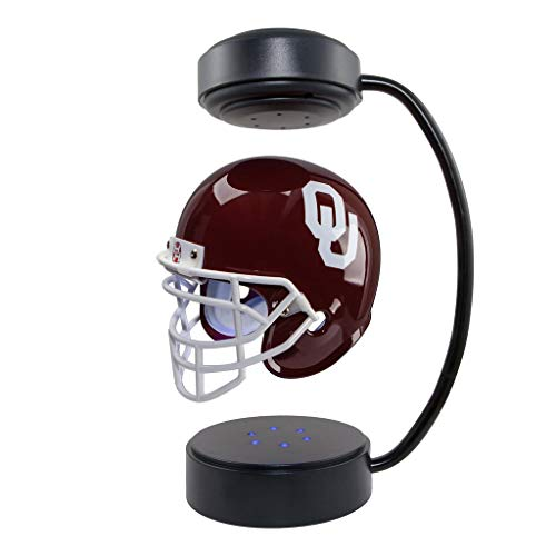 Helmet Sooners Ncaa Oklahoma - Oklahoma Sooners NCAA Hover Helmet - Collectible Levitating Football Helmet with Electromagnetic Stand