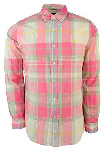 Polo Ralph Lauren Mens Plaid Classic Fit Madras Shirt
