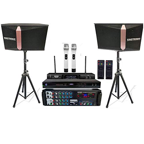 SINGTRONIC PROFESSIONAL 1200 WATTS COMPLETE KARAOKE SYSTEM PACKAGE FREE: UNLIMITED YOUTUBE SONGS, BUILT HDMI & OPTICAL