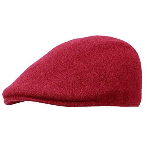 Buena Kangol Seamless Wool 507 - Gorra plana para hombre - rojo ... e30d623b550