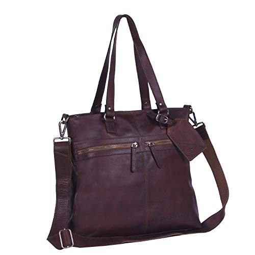 Dunkel Piel Compartimento Bolso Totes Shopper Brand The Laptop Cognac Cleo 35 Cm Chesterfield wfqPnBg