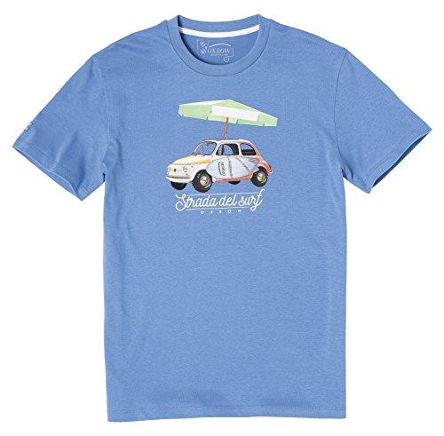 Manches Oxbow Homme Tee Oxv048939 Shirt Méditerranée Courtes Bleu tt41wqg