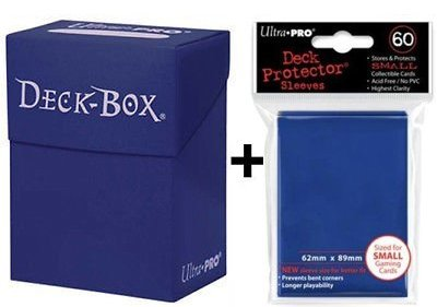 Ultra Pro Deck Box + 60 Small Size Protector Sleeves - Blue - Yu-Gi-Oh!