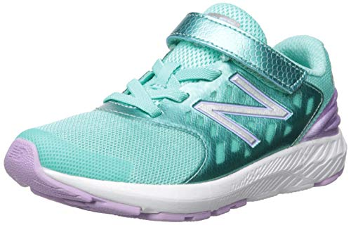 New Balance Girls' Urge V2 Hook and Loop FuelCore Running Shoe, Tidepool/Dark Violet, 2 M US Little Kid