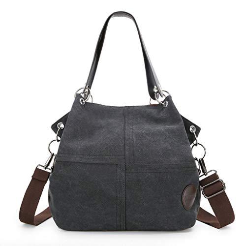 À Grande S Bandoulière En Taille couleur Noir Sac Rxf Portable Toile Capacité Noir Pour Femme qOwaRSxAXF