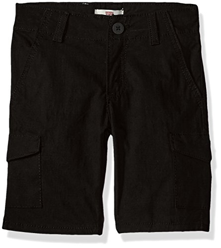 Levi's Little Boys' Slim Fit Quick Dry Shorts, Black, 5