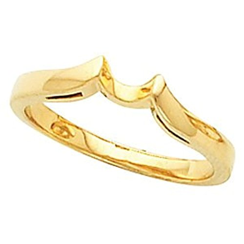 [Yellow Gold Cathedral Engagement Polished Ring or Band Mounting] (Cathedral Ring Mounting)