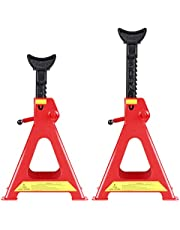 CARTMAN Jack Stands with Outer Foot Pad, 6 Ton Capacity, 1 Pair