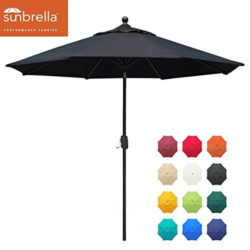 EliteShade Sunbrella 9Ft Market Umbrella Patio Outdoor Table Umbrella with Ventilation and 5 Years Non-Fading Top…