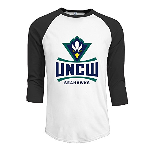 North Carolina Wilmington UNCW Seahawks Men 3/4 Sleeve Baseball T Shirts