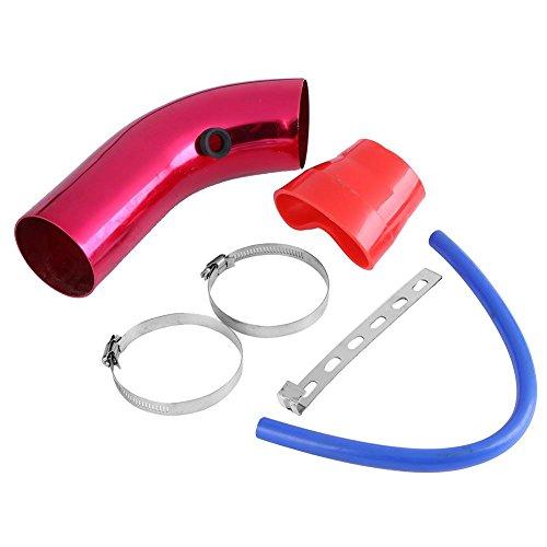 Nelnissa Car Tube Pipe Intake Pipe Car Cold Air Inlet Intake Hose Air Filter(Red):