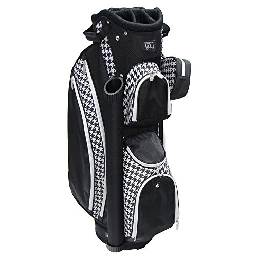 """RJ Sports Paradise 9"""" Deluxe Ladies Cart Bag, Houndstooth, 9"""