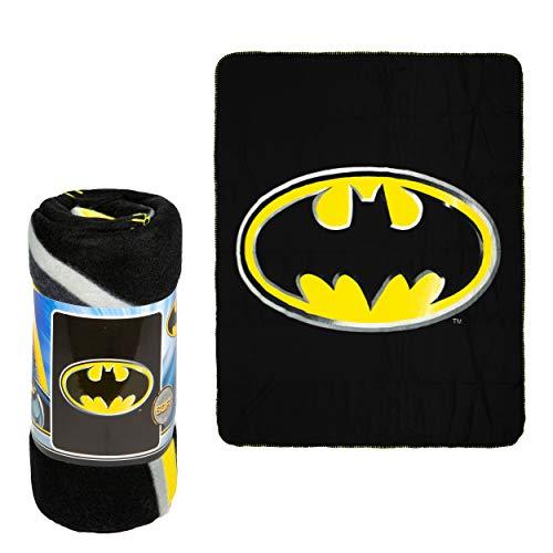 JPI Batman Emblem Super Soft Luxury Fleece Throw Blanket with Sewn edge 100% Polyester Fiber 50
