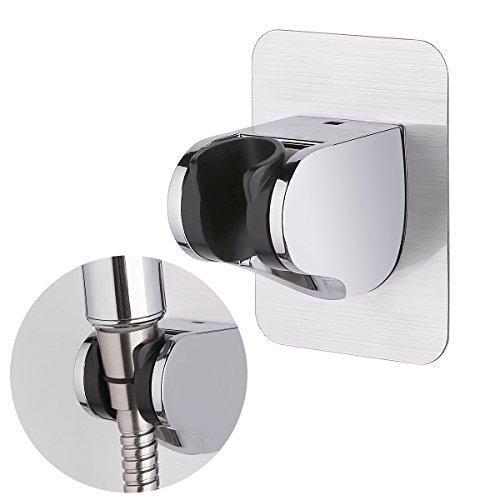 HOMEIDEAS Bathroom Shower Bracket Showerhead holder Adjustable Height, Self-Adhesive