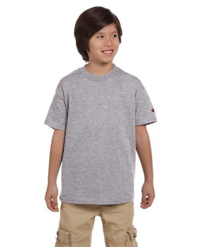 (Champion Youth 6.1 oz. Short-Sleeve T-Shirt, XL, LIGHT STEEL)