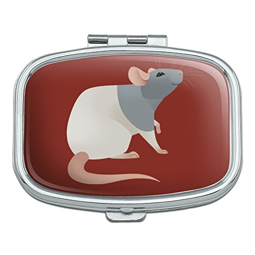 Hooded Rat Rectangle Pill Case Trinket Gift Box