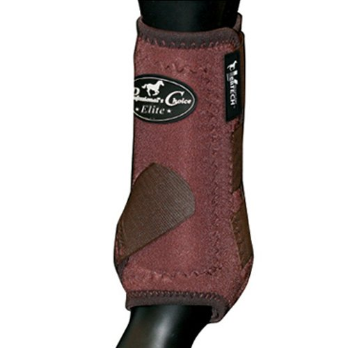 Professionals Choice Equine Sports Medicine Ventech Elite Rear Leg Boot, Pair (Medium, Chocolate Brown) by Professional's Choice