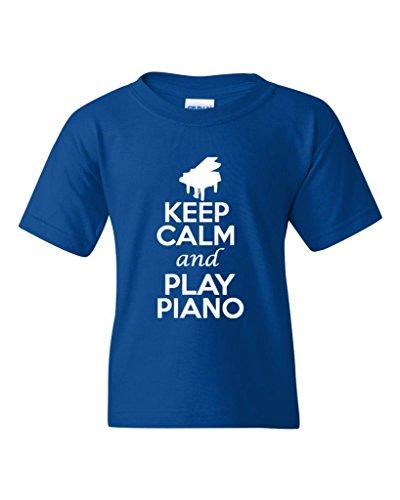 keep-calm-and-play-piano-statement-novelty-youth-kids-t-shirt-tee-medium-royal-blue