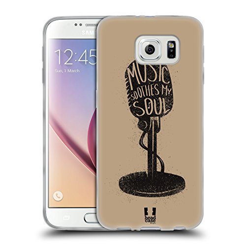 Head Case Designs Microphone Power Of Music Soft Gel Case for Samsung Galaxy S6