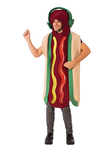 Teen Hot Dog Funny Costumes (Rubie's Dancing Hot Dog Adult Costume, One Size)