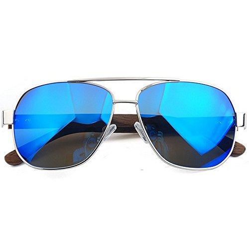al de diseñador Deportes de Color UV400 Madera de Gafas Yxsd de de Vendimia Retro Sol Blue Blue Gafas Sol la Libre Aviator Aire Wayfarer SunglassesMAN de XaFOZTwxnq