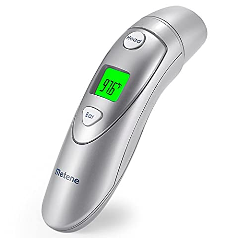Metene Medical Forehead and Ear Thermometer,Infrared Digital Thermometer Suitable For Baby, Infant, Toddler and Adults with FDA and CE - Infared Thermometer