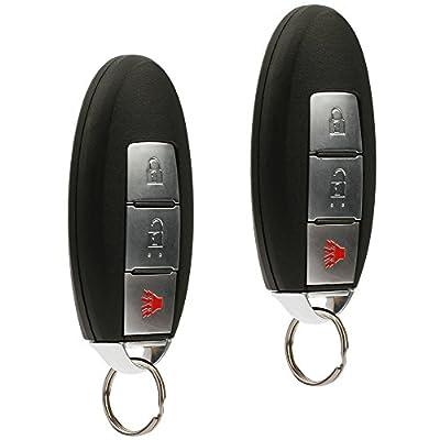 Key Fob Keyless Entry Remote fits Nissan Frontier Armada Murano Pathfinder Quest Sentra Titan Versa Xterra/Infiniti QX4 FX35 FX45 (KBRASTU15) Smart Conversion, Set of 2: Automotive
