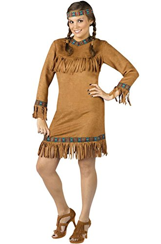 [Mememall Fashion Native American Female Plus Size Halloween Costume] (Legend Of Sleepy Hollow Costumes)