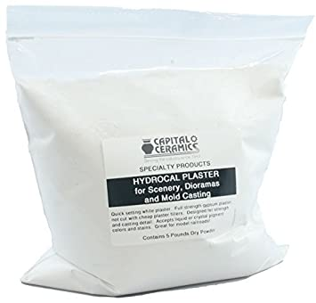 Hydrocal Plaster for Scenery, Dioramas, Dentistry and Mold Casting 25 lb Bulk Pack Bag - Great for Model Railroads by Capital Ceramics