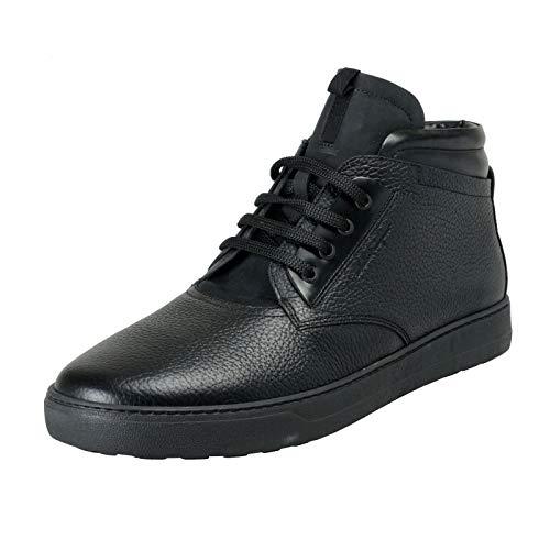 63f3358fbd1 Salvatore Ferragamo Men s GORIZIA 3 Winter Fur Boots Shoes US 12 EEE EU 45  EEE Black