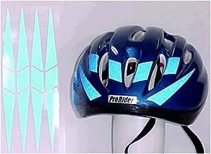 Amazoncom Reflective Blue Bicycle Helmet Decals Bike Lighting - Reflective helmet decals