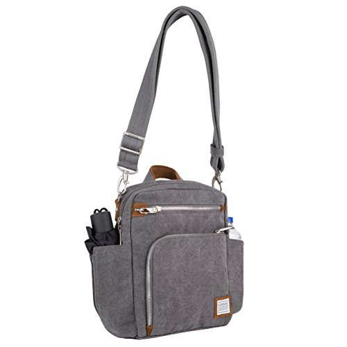 (Travelon Anti-Theft Heritage Tour Bag, Pewter - 33074 540)