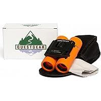 QuestGear Kids Binoculars - 8x21, Lightweight, Compact...