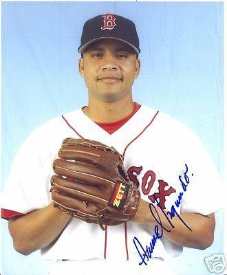 Hansel Izquierdo Boston Red Sox Signed 8x10 Photo W/coa - Autographed MLB Photos