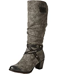 Rieker Women Boots grey, (smoke/black) 96054-45