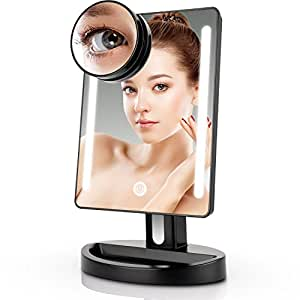 Ynnlce Dl Sy Ql on Best 15x Lighted Magnifying Makeup Mirror