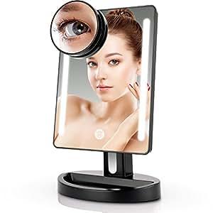 Amazon Com Miusco Lighted Makeup Mirror With 15x