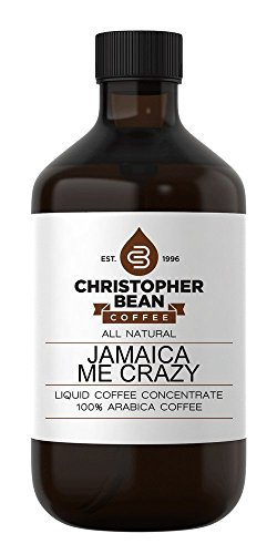 Jamaica Me Crazy Cold Brew or Hot Liquid Coffee Concentrate 4 Ounce Bottle