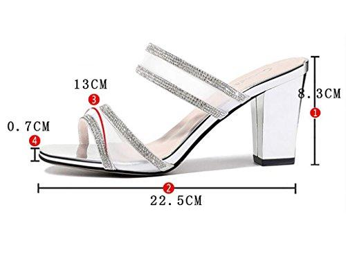 des et de mode grossiers de sandales sandales pantoufles femmes des sandales et pantoufles air d'été Pantoufles talons plates Sandales des mode portent chaussures à en nbsp; chausson talons hauts à A plein qWxBX6