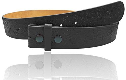 And 1 Embossed Belt (LUNA Western Embossed Tooled Leather Belt Strap - #1 Black)