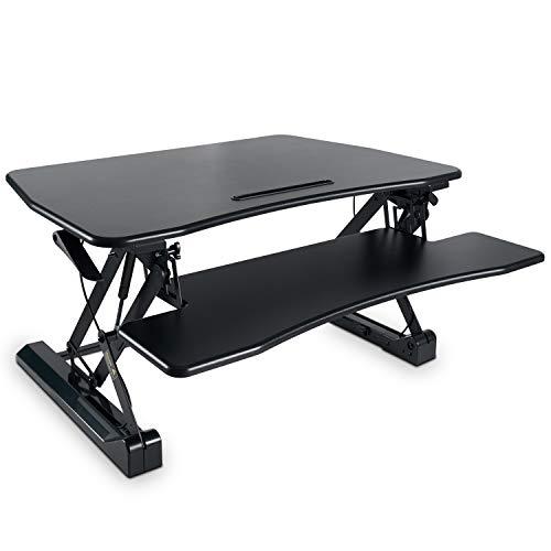 Standing Desk Converter with Height Adjustable – FEZIBO Black 36