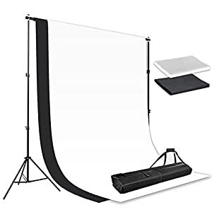 Happyjoy 10x20FT Photography Video Studio Background 100% Pure Cotton Muslin Collapsible Photo Backdrop
