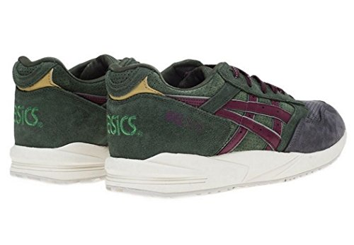 Asics Gel Saga Mens Trainers - Dark green/Burgundy - H41VK 8026