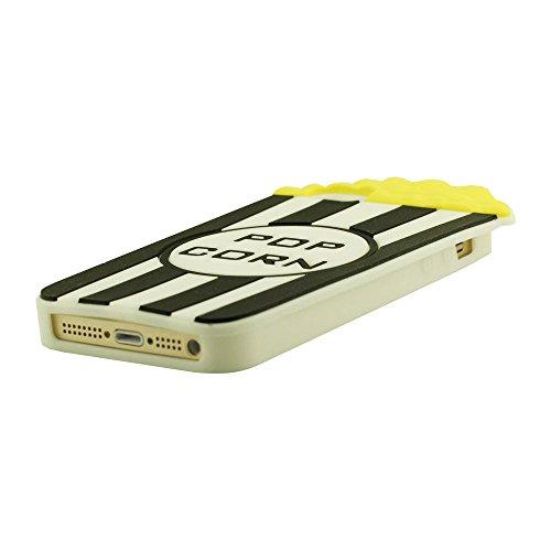 Coque pour iPhone 5 5S 5C 5G, Housse étui pour iPhone 5 / 5S, iPhone 5 Case, Original Conception Pop corn Forme Souple Soft Silicone Gel Haute qualité Étui de protection